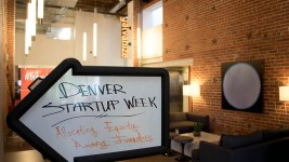 Denver Startup Week at Galvanize. (Chloe Aiello/Denverite)