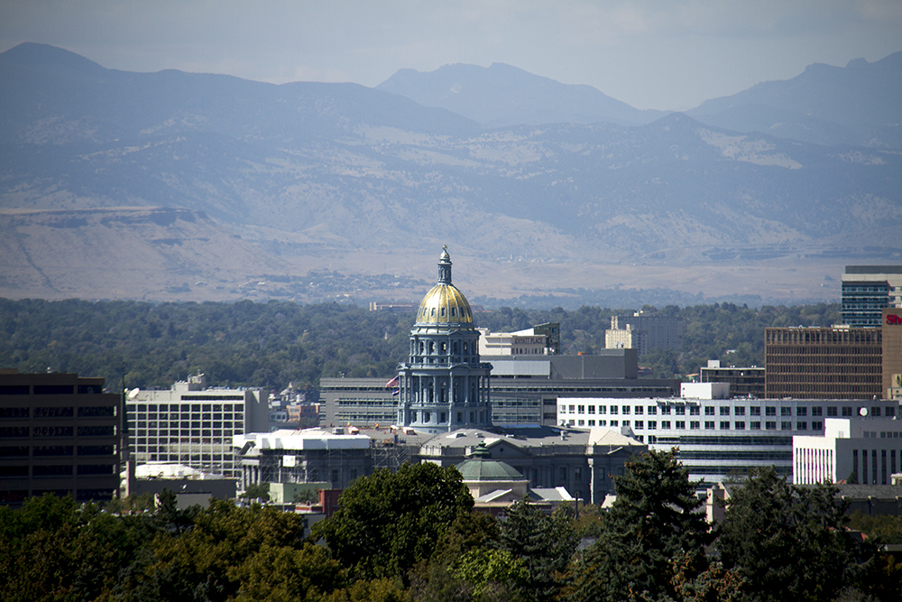 The Colorado State Capitol. (Kevin J. Beaty/Denverite)  cityscape; skyline; capitol; kevinjbeaty; denverite; denver; colorado; capitol building; gold dome;