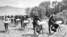 US 25th Infantry Bicycle Corps, 1897. (Wikimedia Commons)