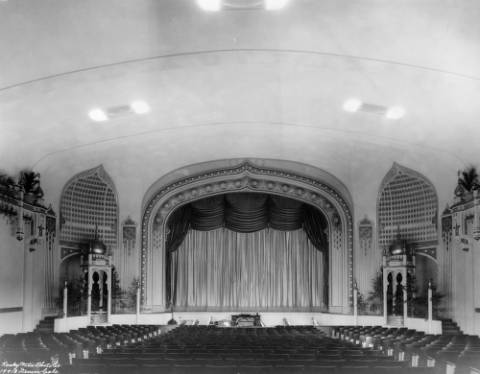 Inside the Aladdin Theatre at an unknown date. (Denver Public Library/Western History Collection/X-24786)