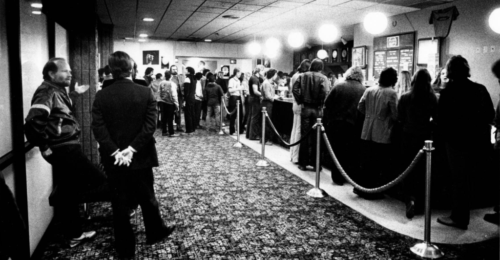 The lobby of the Rainbow Music Hall in 1980. (Denver Public Library/Rocky Mountain News file/RMN-045-0549)