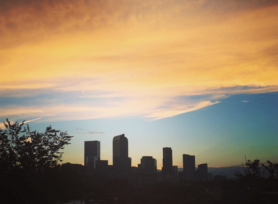 We have nice views from the rooftops in Cheesman Park. (Ashley Dean/Denverite)