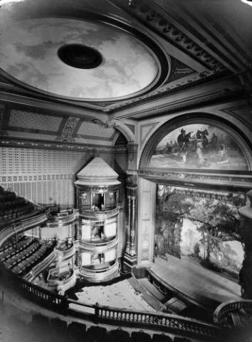The Tabor Opera House at 16th and Curtis streets in 1881. (Denver Public Library/Western History Collection/X-24748)