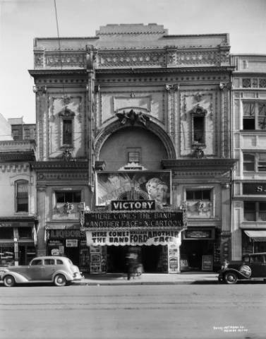 The Victory Theater, originally called the Princess Theater, at 1660 Curtis St. in 1935. (Denver Public Library/Western History Collection/X-24763)
