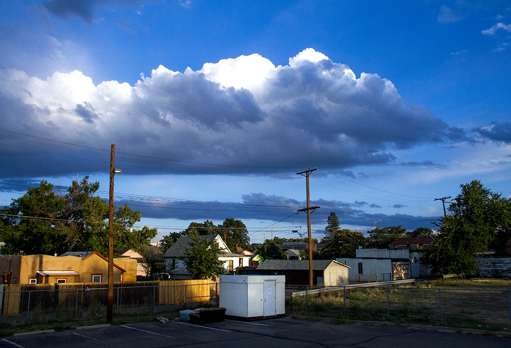 A new air quality monitoring station at Swansea Elementary. (Kevin J. Beaty/Denverite)