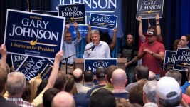 Gary Johnson at CU South Denver. (Chloe Aiello/Denverite)
