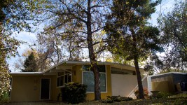 A mid-modern home on S. Edison Way in Virginia Village. (Kevin J. Beaty/Denverite)  virginia village; denver; residential real estate; houses; midmod; denverite; kevinjbeaty;