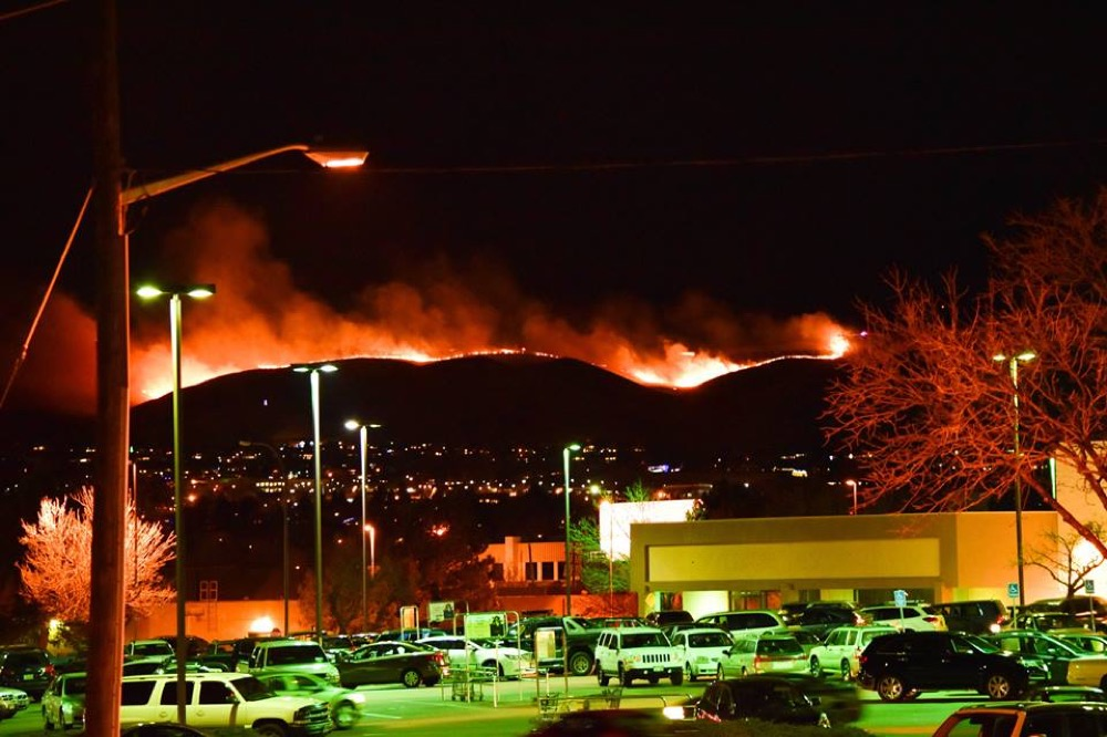 A view of the Green Mountain Fire. (Courtesy Gabe Mercado.)