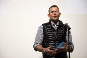 ROMP honored Jeff Glasbrenner and screened one GoPro for a Cause short doc at Space Gallery. (Chloe Aiello/Denverite)