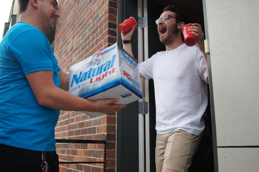 The joy of alcohol delivery. (Courtesy of goPuff)