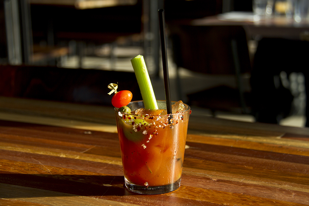 A Bloody Mary at the Stanley Beer Hall. Stanley Marketplace. Jan 7, 2016. (Kevin J. Beaty/Denverite)  stanley marketplace; aurora; retail; kevinjbeaty; colorado; denverite;