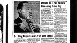 Seen in the Rocky Mountain News May 19, 1967. (Denver Public Library/Rocky Mountain News Collection)  archive; martin luther king jr; history; dpl;