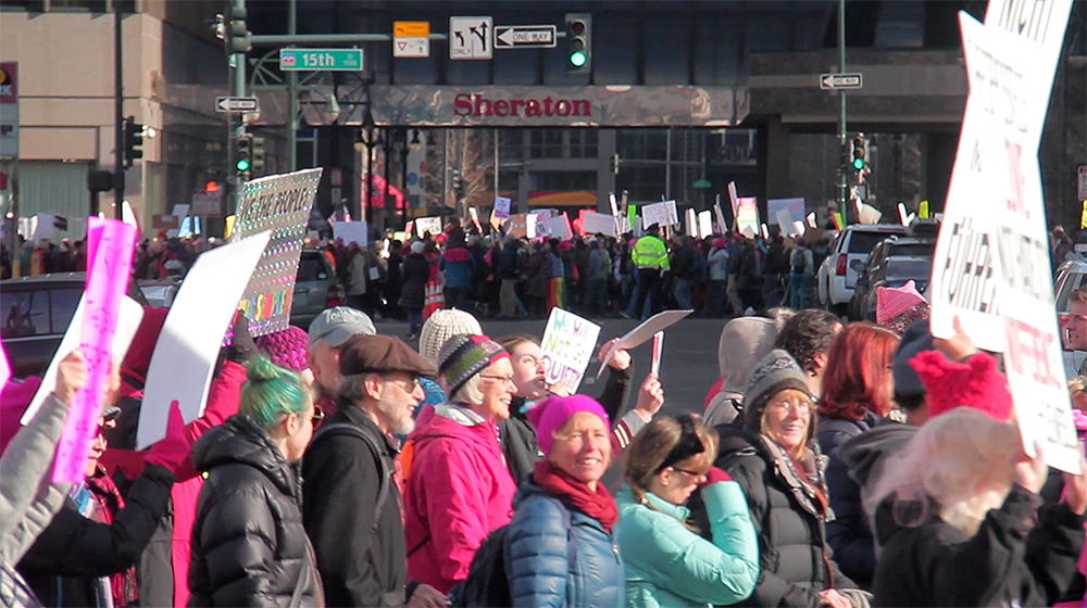 The end and start of the Women's March on Denver. Jan. 21, 2017. (Kevin J. Beaty/Denverite)