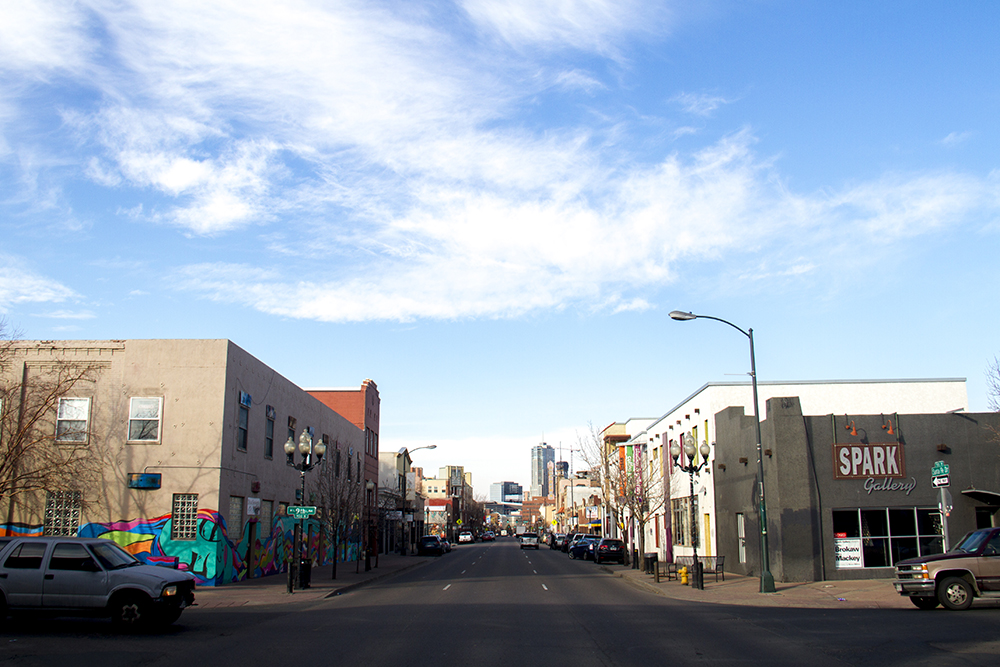 The Art District on Santa Fe. (Kevin J. Beaty/Denverite)  art district on santa fe; bid; lincoln park; denver; colorado; denverite; kevinjbeaty;