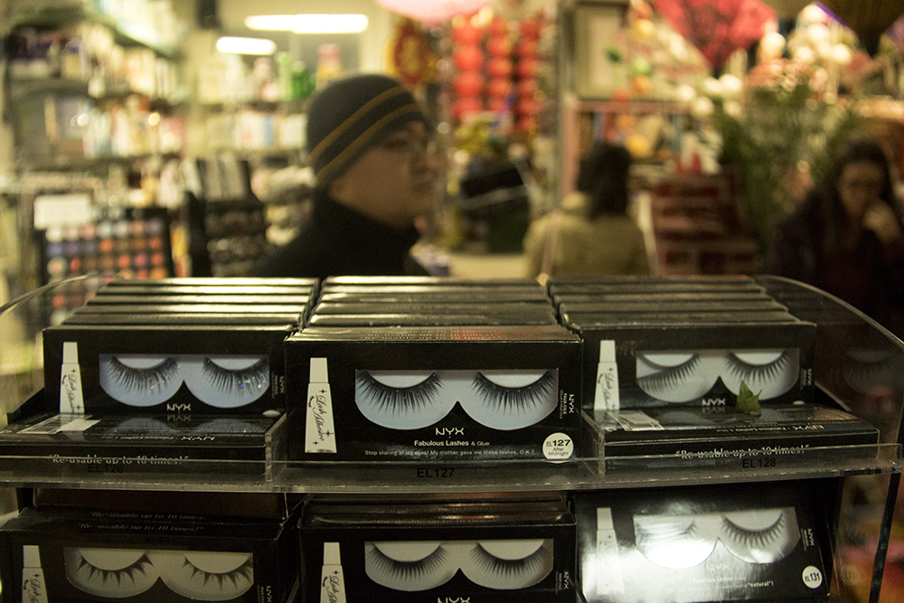Eyes for sale at Truong An Far East Asian Gifts. Chinese New Year, Jan. 29. 2017. (Kevin J. Beaty/Denverite)chinese new year; federal boulevard; westwood; denver; kevinjbeaty; denverite; colorado;