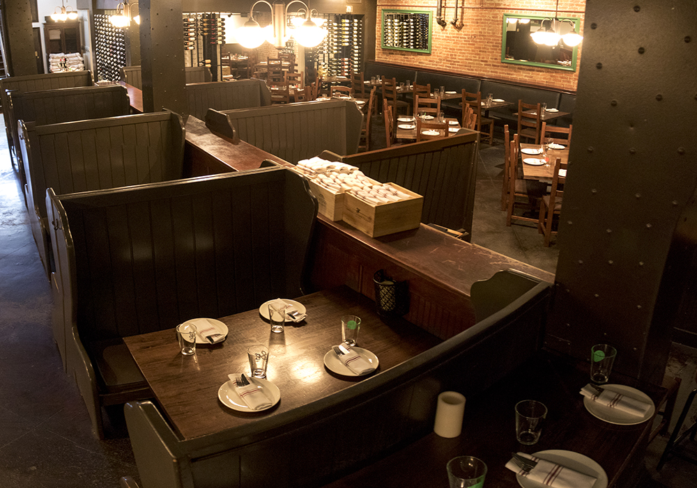 """Osteria Marco in Larimer Square, closed on the """"day without immigrants,"""" Feb. 16, 2016. (Kevin J. Beaty/Denverite)  day without immigrants; immigration; deportation; kevinjbeaty; denver; restaurant; food; larimer square; denverite; colorado; copolitics;"""