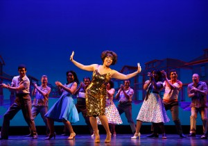 Judith Franklin as Martha Reeves and the cast of Motown the Musical. (Photo: Joan Marcus)