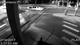 Surveillance footage of a fatal collision along the A Line. (Aurora Police Department)