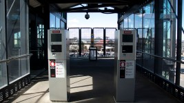 Pay stations not yet in operation at the County Line RTD station. (Kevin J. Beaty/Denverite)  transportation; transit; kevinjbeaty; denver; colorado; denverite; centennial; rtd; train; light rail