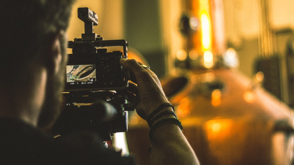 """Filming of a distillery for the upcoming documentary """"The Whiskey Film."""" (Stacey Fronek/""""The Whiskey Film"""")"""