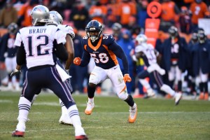 Fox Sports' Jay Glazer reported Monday that the thief who took Tom Brady's jersey might also have stolen Von Miller's gear. (Ron Chernoy/USA Today Sports)