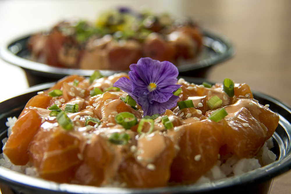Spicy salmon poké at Ohana in Highland. (Kevin J. Beaty/Denverite)  food; poke bowl; highlands; ohana; kevinjbeaty; denver; colorado; dneverite;