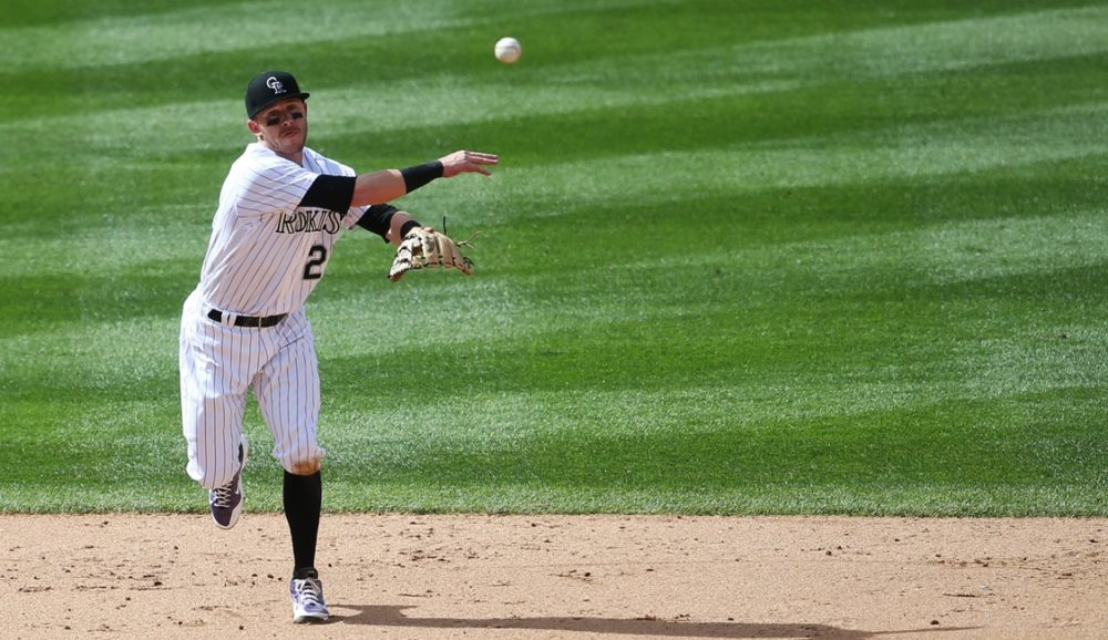 Trevor Story has struggled at the plate this year, but he hasn't let that affect his work defensively. (Chris Humphreys/USA Today Sports)