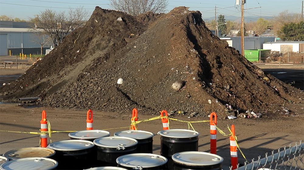 This unholy pile of filth is just a few days worth of collections by Denver's street sweeping fleet. (Kevin J. Beaty/Denverite)  public works; street sweeping; environment; pollution; kevinjbeaty; denver; denverite; colorado;