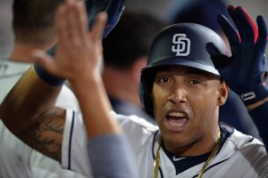 Yangervis Solarte's home run helped the Padres beat the Rockies 6-2 on Tuesday night. (Jake Roth/USA Today Sports)