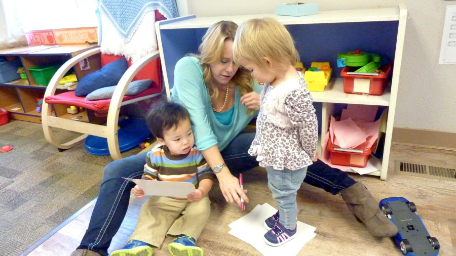 Loveland's Teaching Tree Early Childhood Learning Center was one of the first two centers in the state to get a Level 5 rating in the Colorado Shines rating system. (Ann Schimke/Chalkbeat)