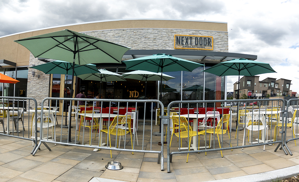 Next Door American Eatery, Eastbridge Town Center, April 3, 2017. (Kevin J. Beaty/Denverite)  eastbridge; stapleton; commerical real estate; restaurants; food; kevinjbeaty; denver; colorado; denverite;