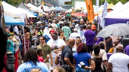 Juneteenth in Five Points, June 17, 2017. (Kevin J. Beaty/Denverite)  juneteenth; five points; black history; kevinjbeaty; denver; colorado; denverite; street fair; festival; welton street;