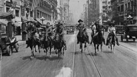 Bucking Broadway (film still),1917. Directed by John Ford, with Harry Carey, Molly Malone and L.M. Wells.©Collection Centre National du Cinéma et de l'image animée (France)