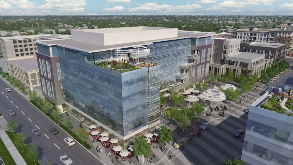 A rendering of the Central Park Station project planned for Stapleton. (Courtesy of Newmark Knight Frank)