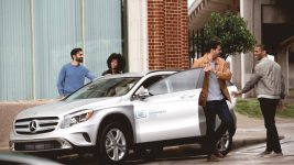The new look of Car2Go, a Mercedes-Benz GLA four-door. (Courtesy of Car2Go)