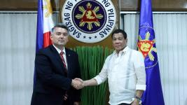 U.S. Sen. Cory Gardner meets with President Rodrigo Duterte in the Philippines. (Presidential Communications Operations Office, Philippines)