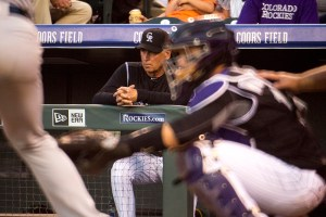 Bud Black. Colorado Rockies vs Chicago White Sox, July 8, 2017. (Kevin J. Beaty/Denverite)  rockies; baseball; bud black; coors field; sports; kevinjbeaty; denver; denverite;