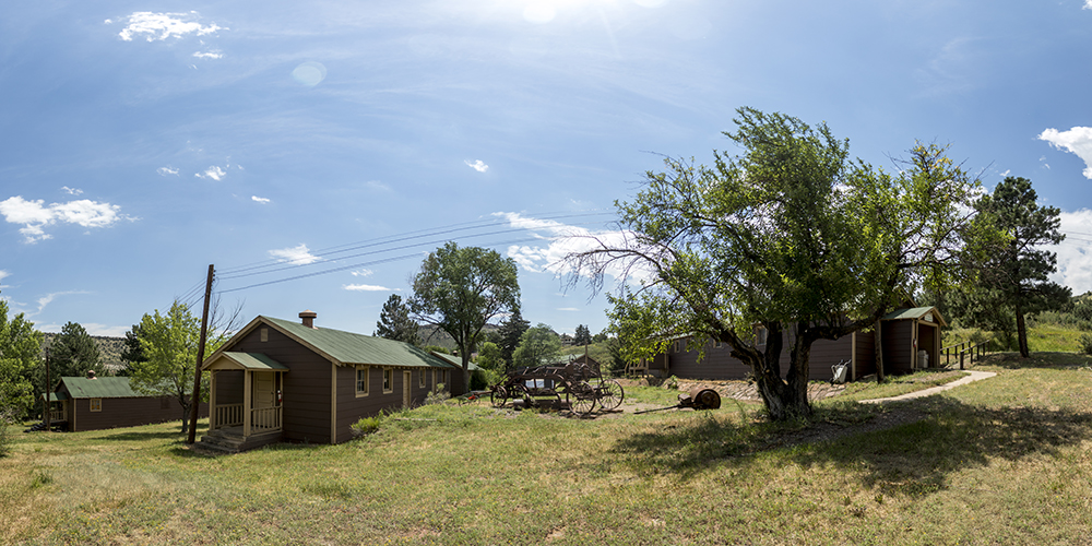 Old CCC cabins, Red Rocks, July 11, 2017. (Kevin J. Beaty/Denverite)  red rocks; Civilian Conservation Corps; history; kevinjbeaty; morrison; colorado; denverite;