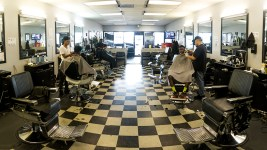 Montbello Barbers, July 25, 2017. (Kevin J. Beaty/Denverite)