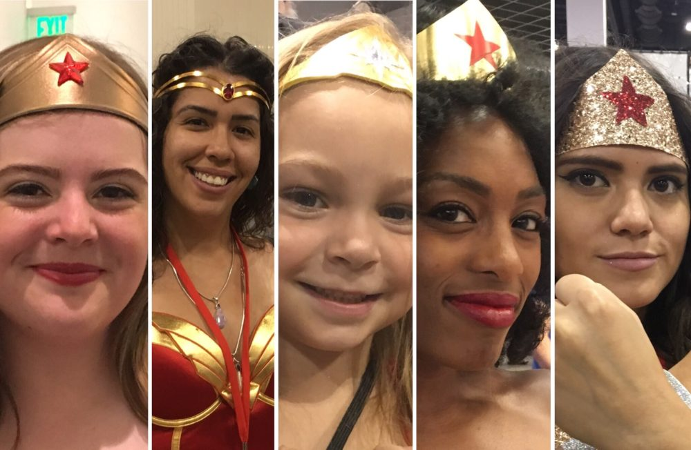 Some of the Wonder Women we saw at Denver Comic Con. (Dave Burdick/Denverite)