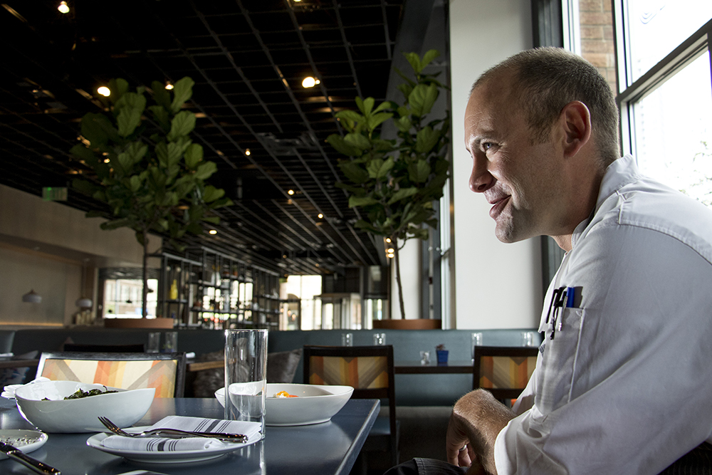 Chef Patrick Kelly inside Wayward Restaurant on Little Raven Street. (Kevin J. Beaty/Denverite)  food; restaurant; denver; colorado;