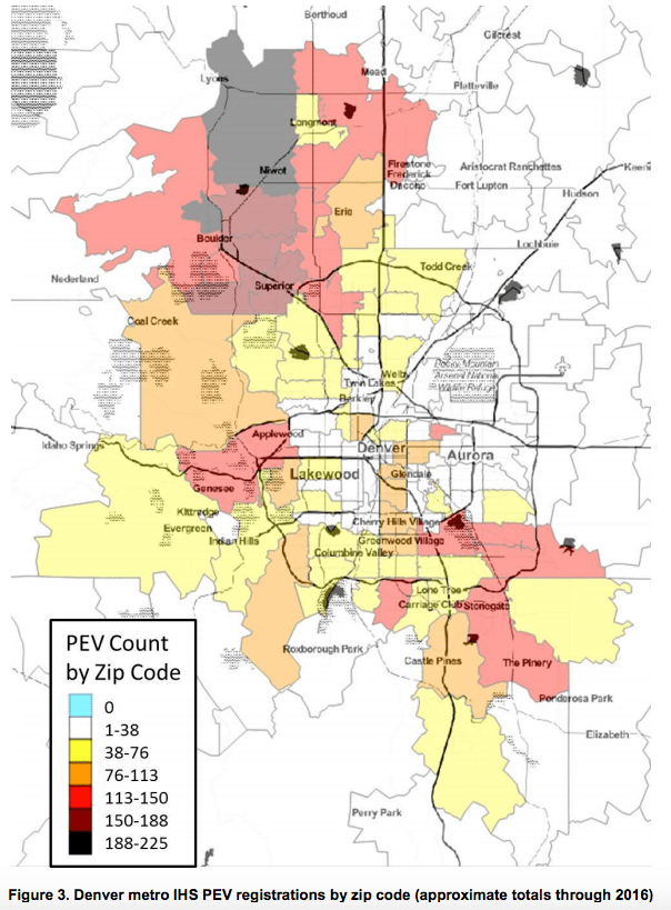 Total electric vehicle ownership int he Denver metro.(National Renewable Energy Laboratory)