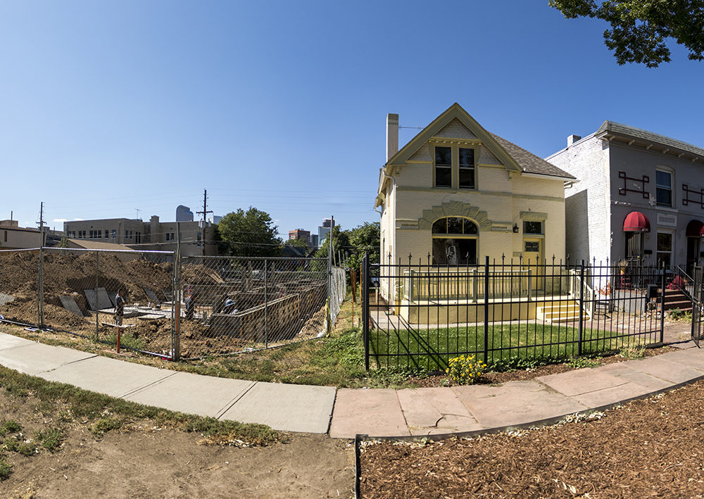 New construction and an old home in City Park West. Sept. 18, 2017. (Kevin J. Beaty/Denverite)  denver; colorado; denverite; kevinjbeaty; city park west; development; residential real estate; construction; gentrification;