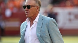 John Elway weighed in on the NFL protests Tuesday. (Sergio Estrada/USA Today Sports)