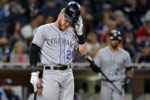 The Rockies fell again Thursday. (Jake Roth/USA Today Sports)
