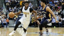 Emmanuel Mudiay is vying for the Nuggets' starting point guard job. (Isaiah J. Downing/USA Today Sports)
