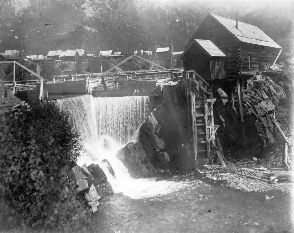 Crystal Mill near the now-ghost town of Crystal City, Colorado in Gunnison County soon after the mill's construction in 1893. The mill still stands today. (Western History & Genealogy Dept./Denver Public Library/X-7577)