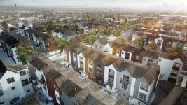 A rendering of the West Line Village development.  (Courtesy )
