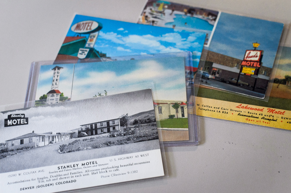 Various historic motels on Colfax Ave (Austin Cope/For Denverite) motels; colfax; jonny barber; colfax museum