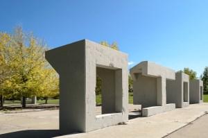Detail of cement structures (Austin Cope/For Denverite) parks; park; Northside Park; Globeville; sal carpio